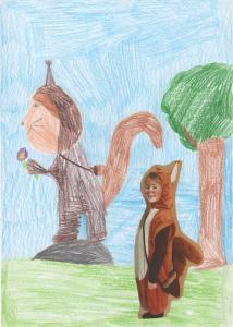 Elisa Schule Walter 9 Jahre Eichhörnchen 001